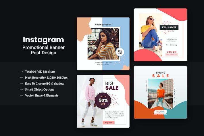 Thumbnail for Promotional Instagram Post/Banner Design  V-8