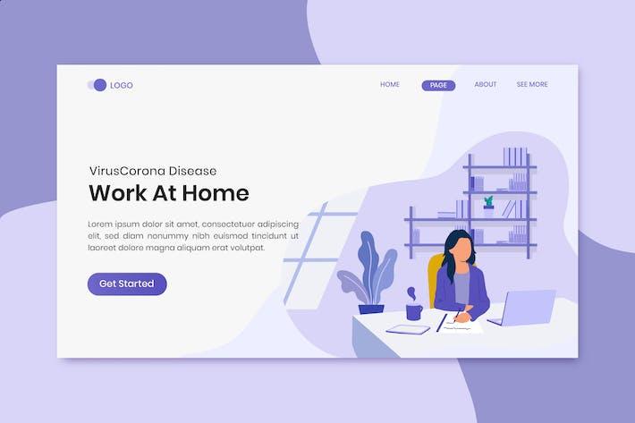 Thumbnail for Virus Corona Disease Work At Home On Landing Page
