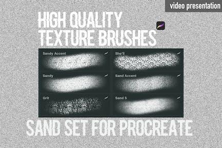 Procreate texture brushes.Sand