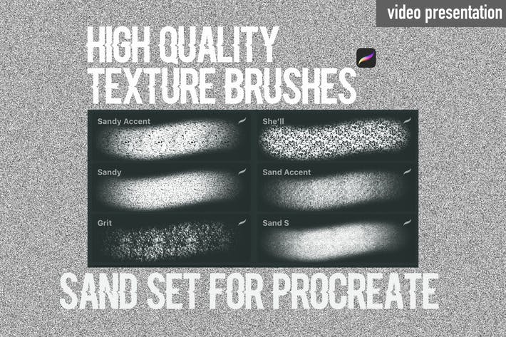 Thumbnail for Procreate texture brushes.Sand