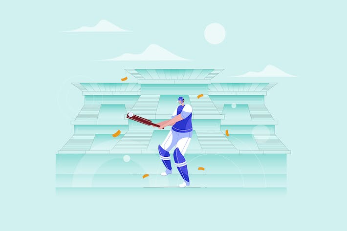 Thumbnail for Cricket Batsman - Vector Illustration