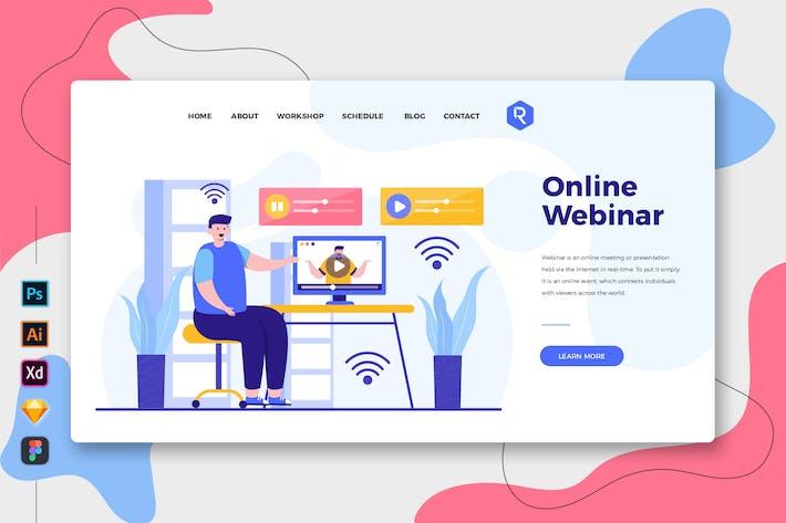 Thumbnail for Online Webinar - Web & Mobile Landing Page