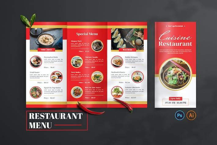 Cuisine Restaurant — Design de menu gastronomique
