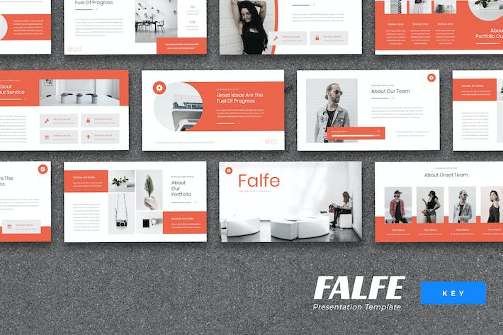 Thumbnail for Falfe - Creative Agency Keynote Template