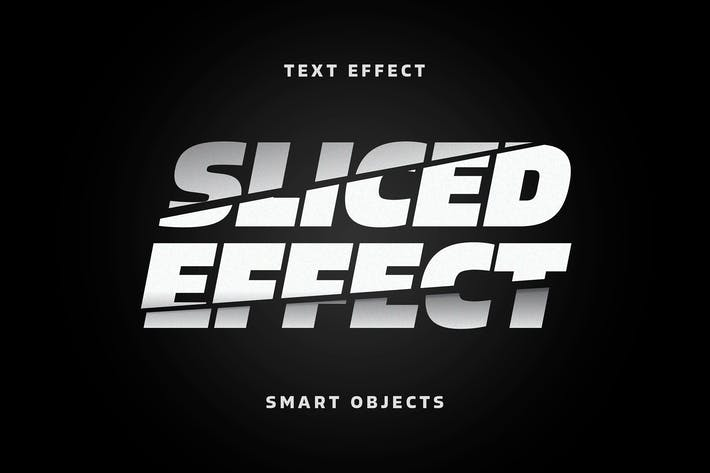 Thumbnail for Sliced Letters Text Effect