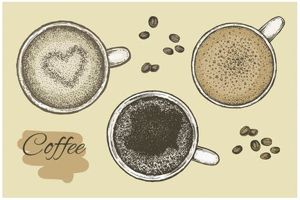 Coffee Vecteur Set
