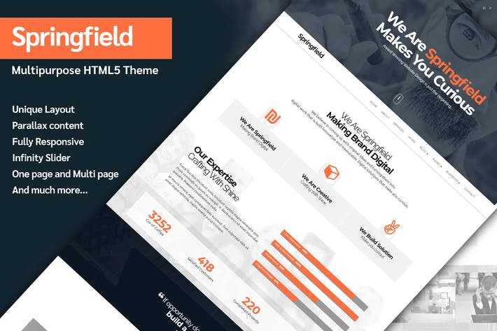 Thumbnail for Springfield - Responsive HTML5 Parallax Theme