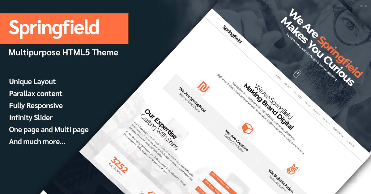 Download Springfield - Responsive HTML5 Parallax Theme by abmathasuriya