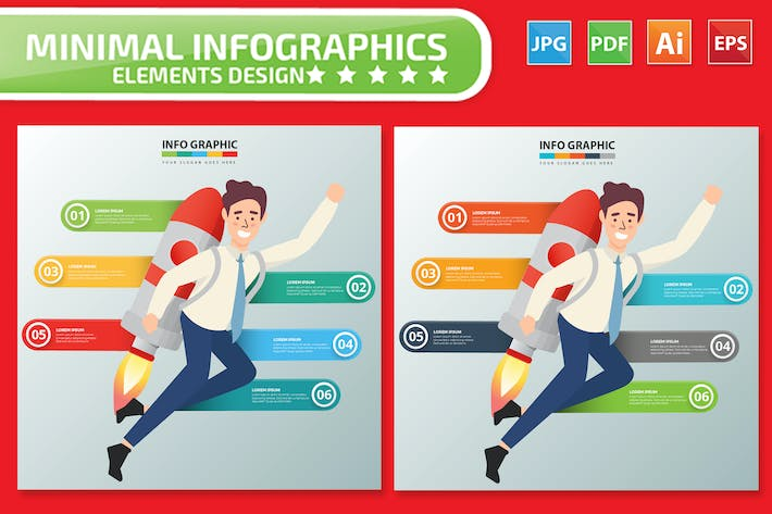 Thumbnail for Businessman Infographics