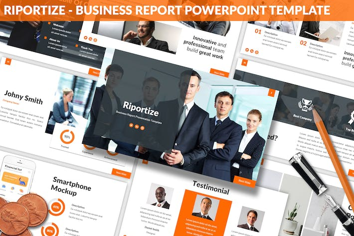 Thumbnail for Riportize - Business Report Powerpoint Template