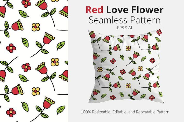 Red Love Flower Pattern