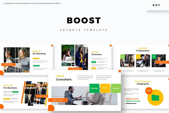 Thumbnail for Boost - Keynote Template