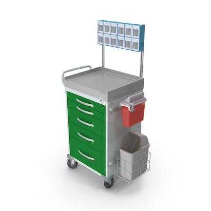Carrito médico de uso general con organizador