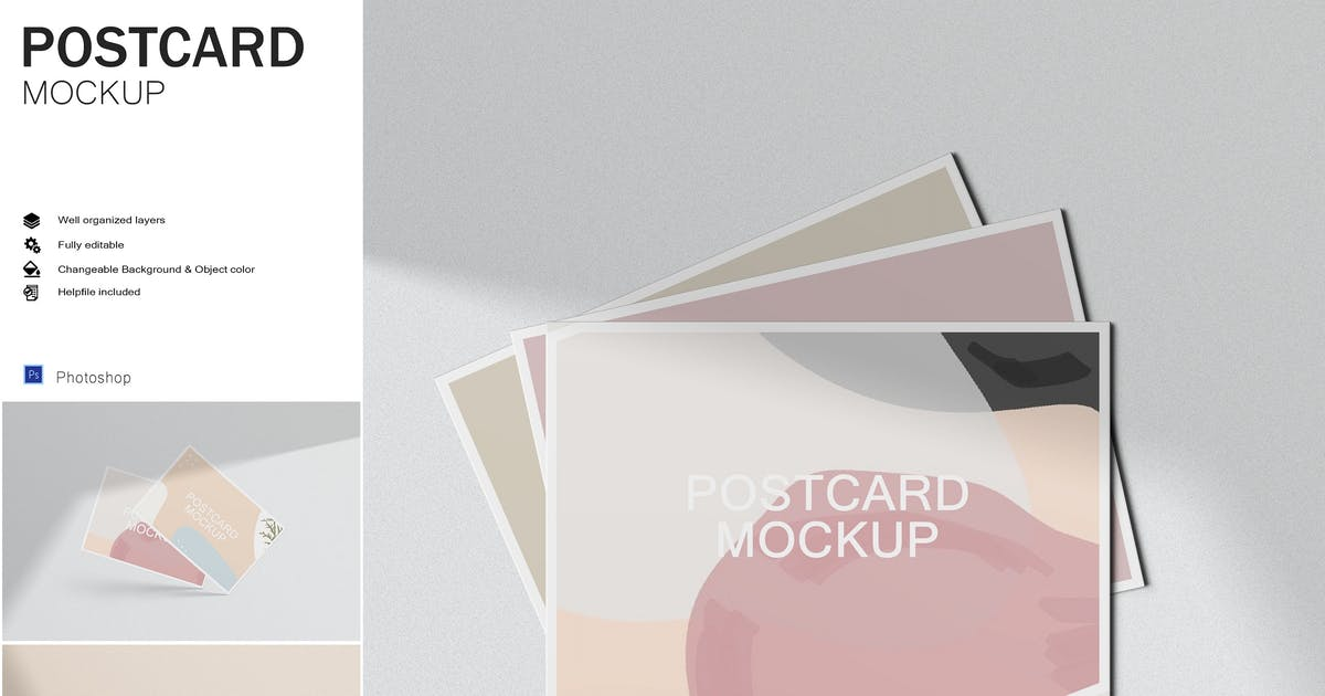 Download Postcards - Mockup by GraphicMonday