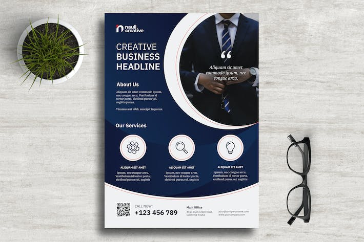 Thumbnail for Corporate Business Flyer PSD and Vector Vol.7