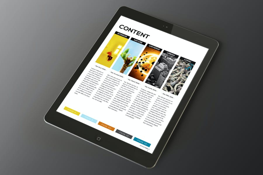 Tablet Design Magazine Indesign Template