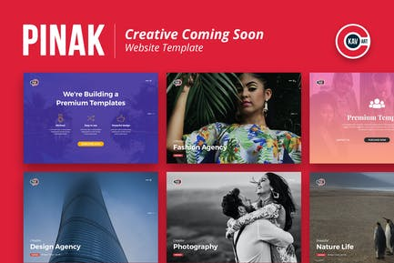 Creative Coming Soon Template - PINAK