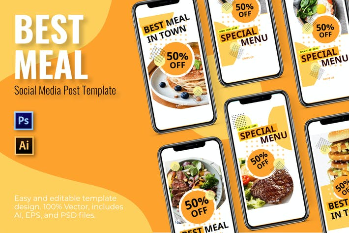 Cover Image For Meal Social Media Template