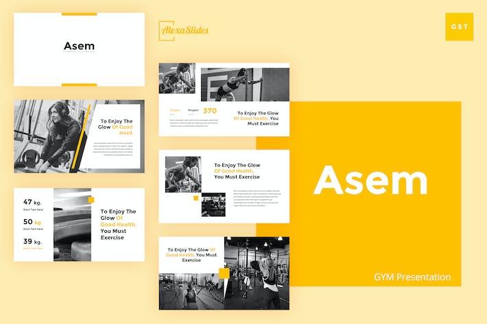 Thumbnail for Asem - Gym Google Slides Presentation Template