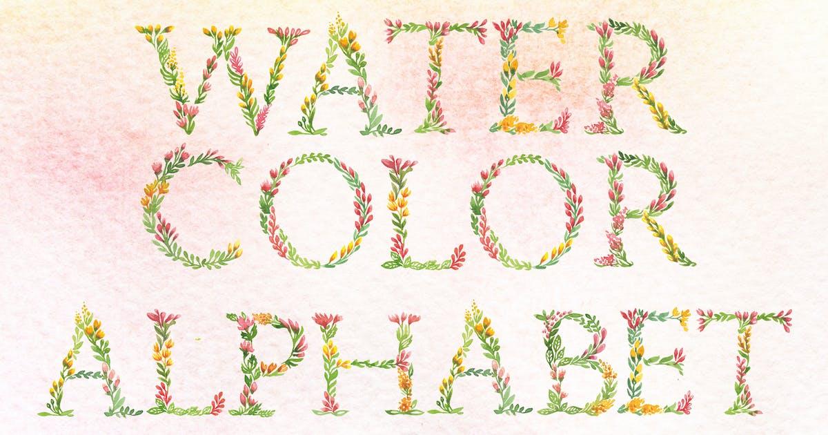 Download Floral Watercolor Alphabet by swiejko
