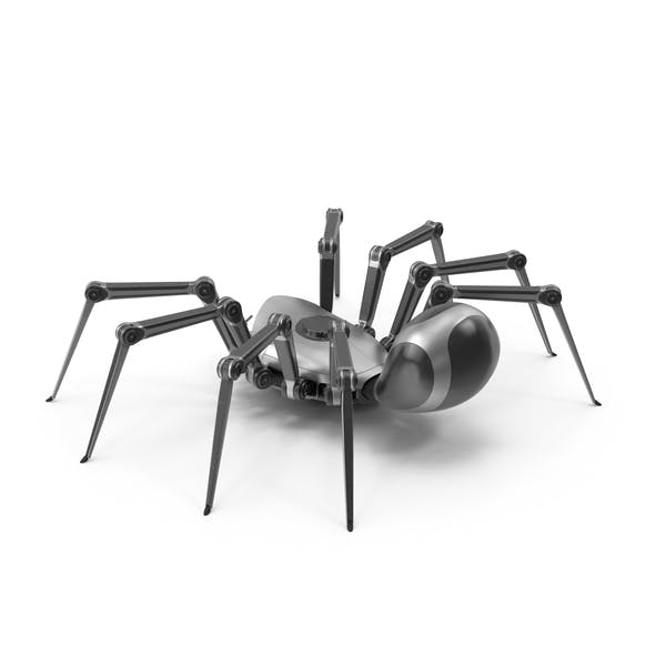 Robot Spider Metal Black