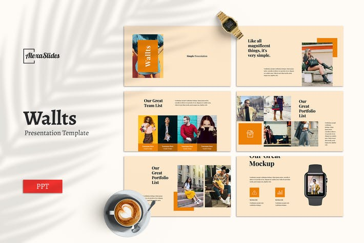 Thumbnail for Wallts - Powerpoint Template