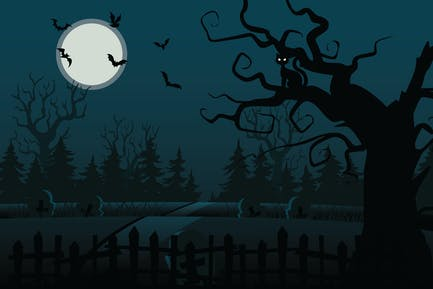 Halloween Haunted Forest