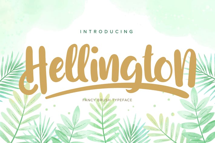 Thumbnail for Hellington   Fancy Brush Tipo de letra