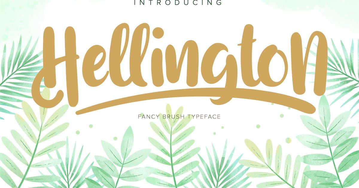 Download Hellington | Fancy Brush Typeface by Vunira