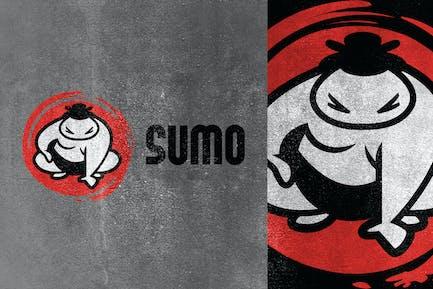 Cartoon Sumo Mascot Logo