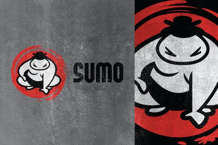 Thumbnail for Cartoon Sumo Mascot Logo
