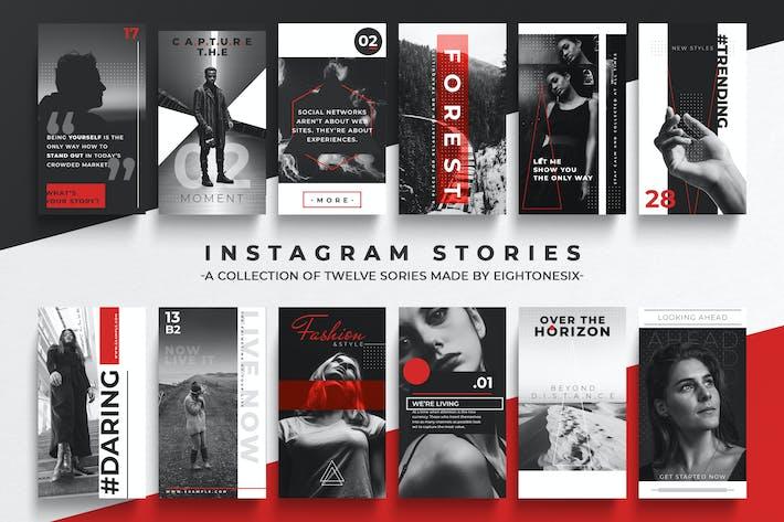 Thumbnail for Schwarz-Weiß-Instagram-Story Vorlage