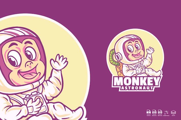 Monkey cute Astronaut