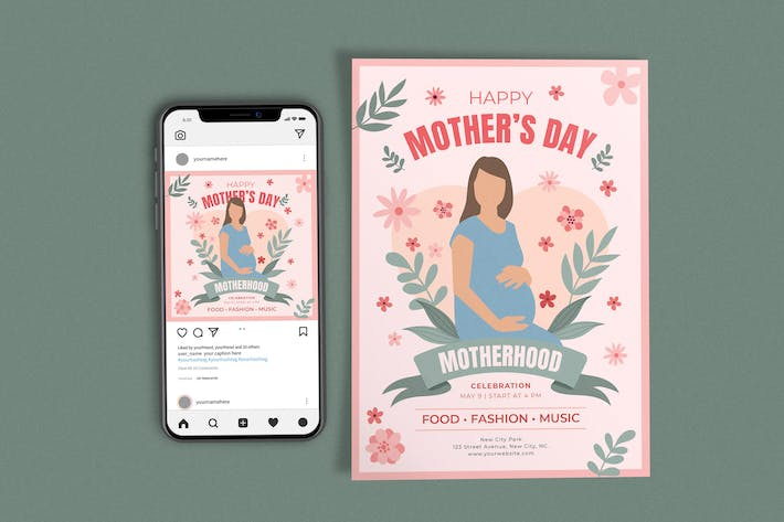 Mothers Day (Mommy) Template Set