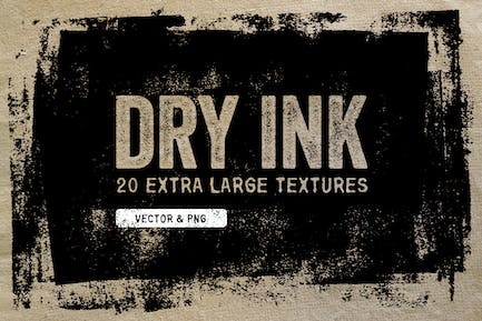 Dry Ink Textures - Vector & PNG
