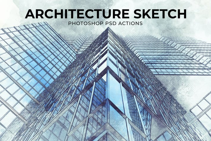 Thumbnail for Architecture Sketch Photoshop PSD Action
