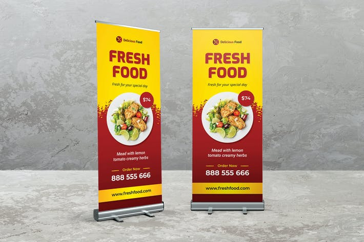 Thumbnail for Food and Resto Roll Up Banner