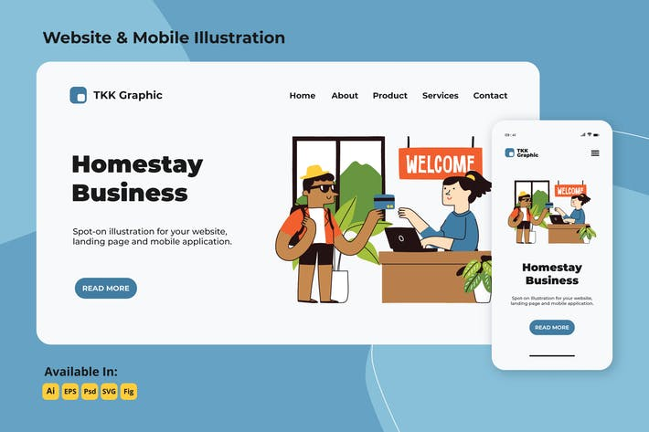 Thumbnail for Homestay reservation web and mobile