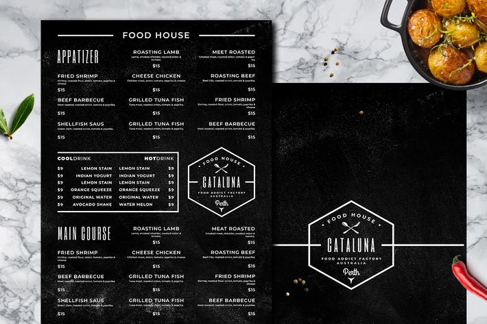 Thumbnail for Blackboard Food Menu. 25