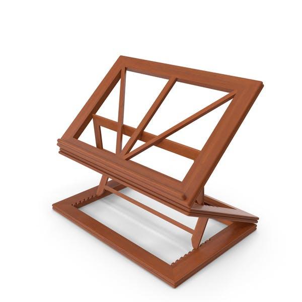 Zusammenklappbarer Buchständer aus Holz