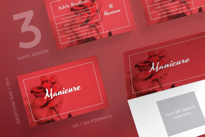 Manicure Nails Business Card Template