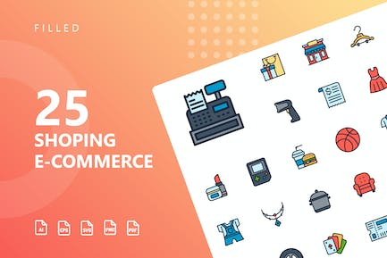 Shopping E-Commerce Filled Icons