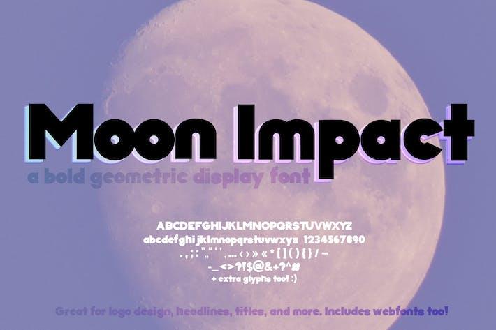 Thumbnail for Fuente de impacto de luna negrita (fuente geométrica)