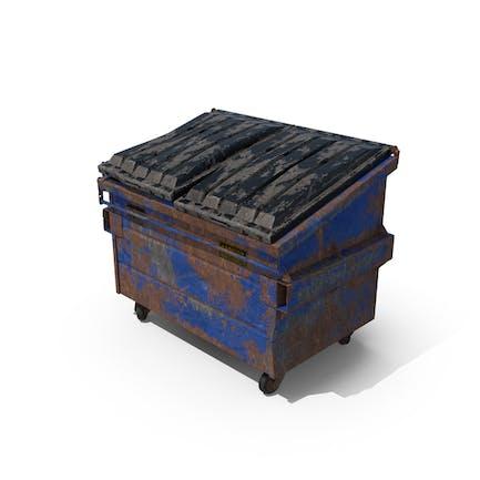 Destroyed Dumpster