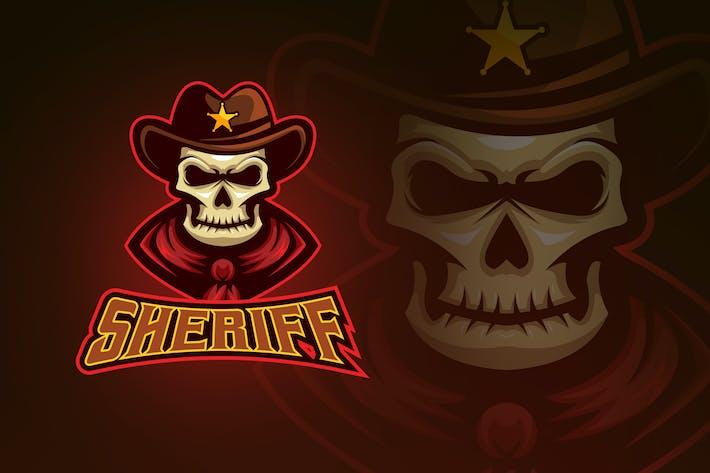 Thumbnail for Evil Skull Sheriff Esport Logo