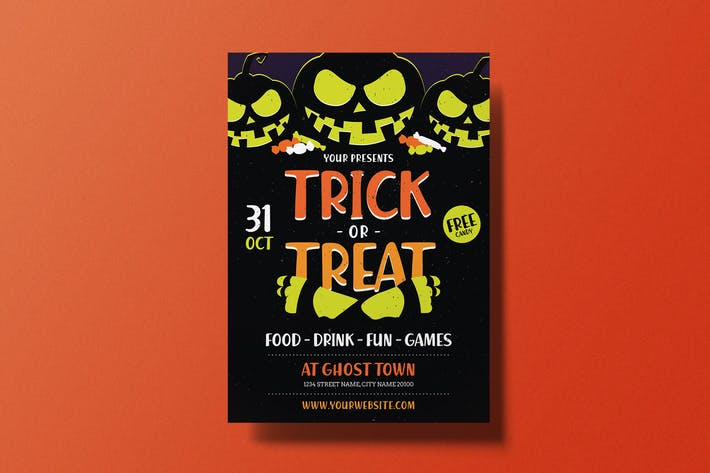 Thumbnail for Halloween Trick or Treat Flyer
