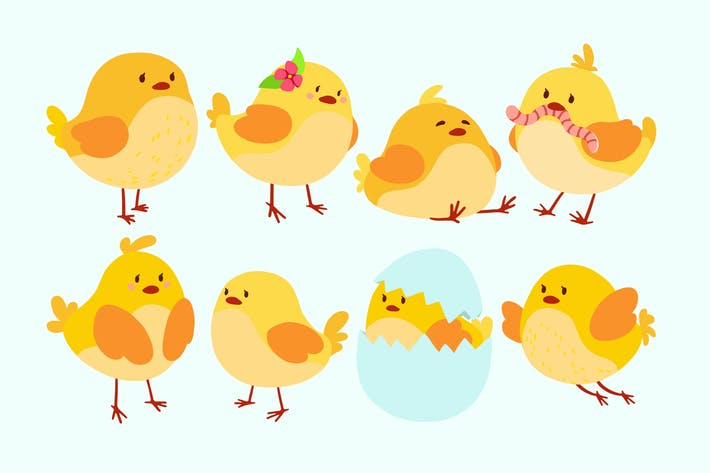 Thumbnail for Cute Chickens Clipart