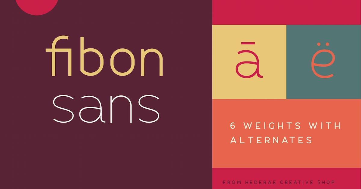 Download Fibon Sans by hederaedesign