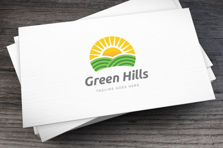 Thumbnail for Green Hills Logo Template