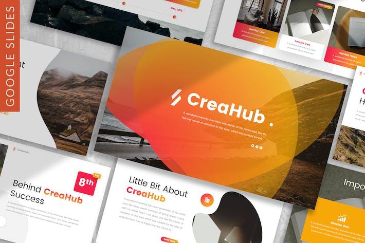 CreaHub - Бизнес-Шаблон слайдов Google